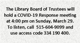 Virtual Board Meeting, 3-29-2020